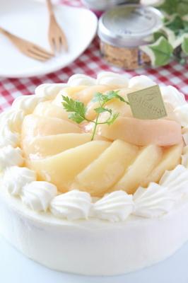 桃のショートケーキ3