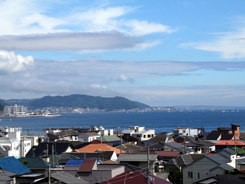 長谷寺から見下ろす湘南の海