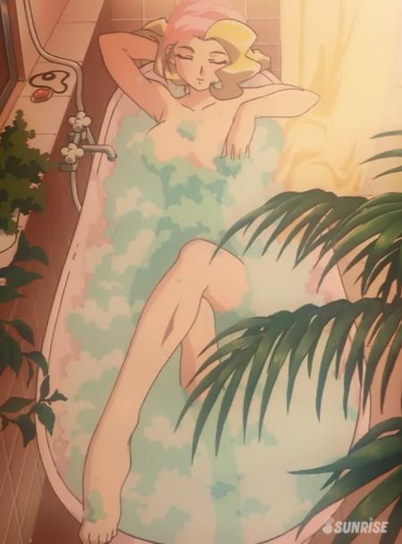 勇者王ガオガイガーFINAL スワン・ホワイトの全裸入浴シーン21