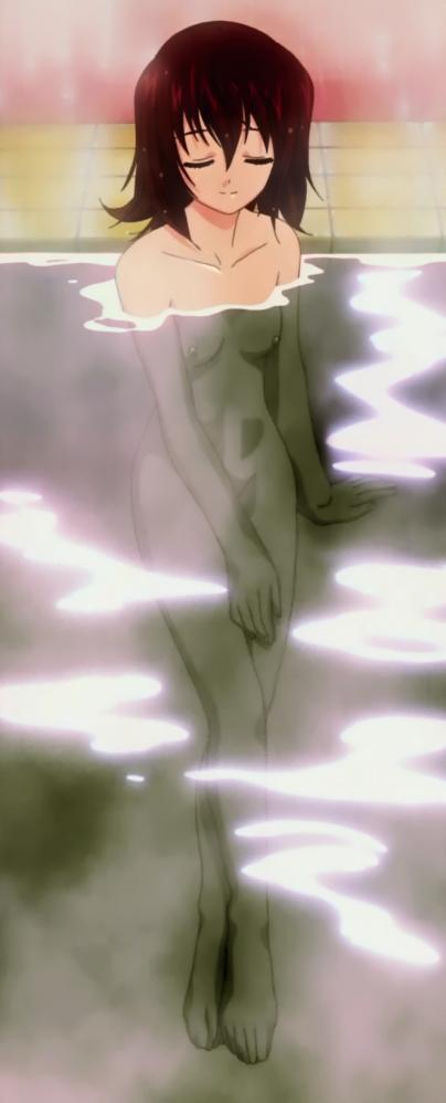 円盤皇女ワるきゅーレSPECIAL 七村秋菜の全裸ヌード銭湯入浴シーン乳首1