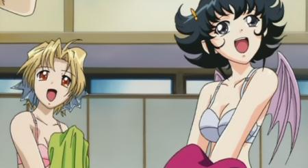 円盤皇女ワるきゅーレSPECIAL 銭湯の女性客の脱衣シーン下着姿ブラ9