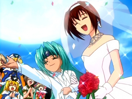 円盤皇女ワるきゅーレSPECIALの子供ハイドラと七村秋菜の洋風結婚式N16