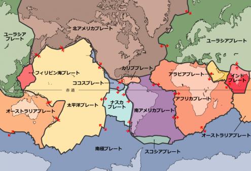 世界のプレート図