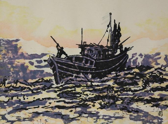 金子周次  出漁