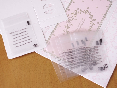 6月焼き菓子箱ボヌールと焼き菓子袋OP溶断袋テープつき