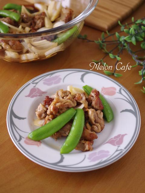 春野菜と揚げ焼き豚の甘酢漬け