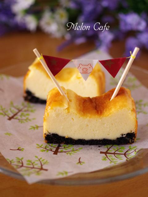 パウンドケーキ型とホットケーキミックスで簡単手軽なベイクドチーズケーキ