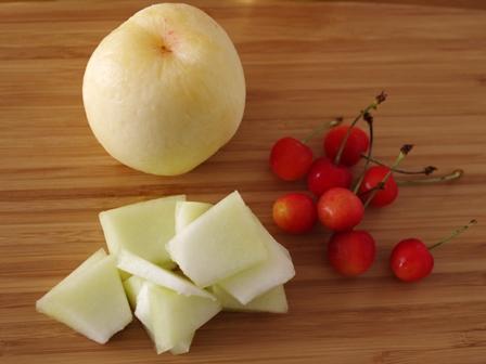 フルーツビネガーウォーター桃とさくらんぼとメロン03
