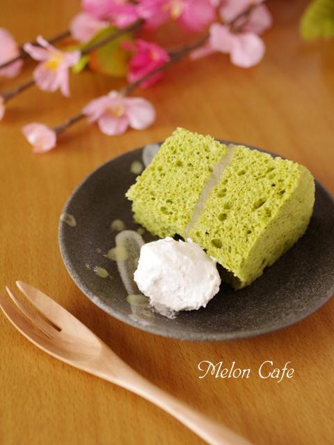 レンジで簡単ホットケーキミックスの抹茶シフォンケーキ白あんサンド00