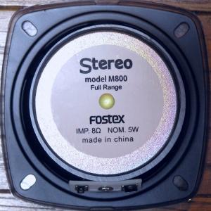 FOSTEX(フォステクス) M800 (裏)