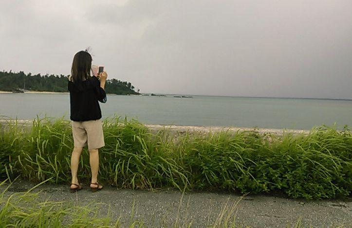 海を撮影1
