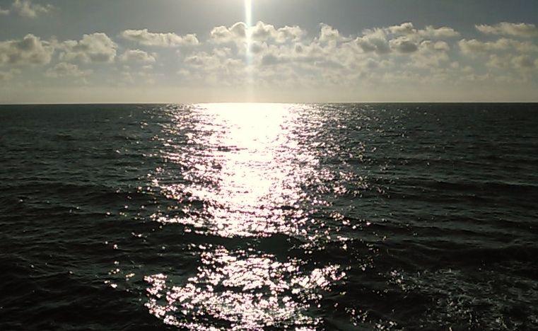 ゆうひが沈む地平線