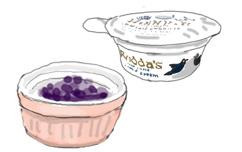 クロテッドクリームとブルーベリージャム