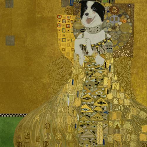 『アデーレ・ブロッホ=バウアーの肖像 II』 クリムト ボーダーコリーでs