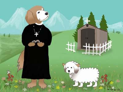 ラヴィンとチップ牧師と羊s