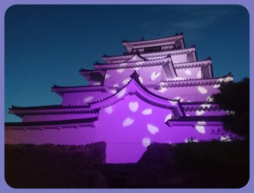 鶴ヶ城ライトアップー2