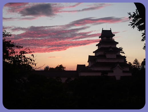 鶴ヶ城ライトアップー3