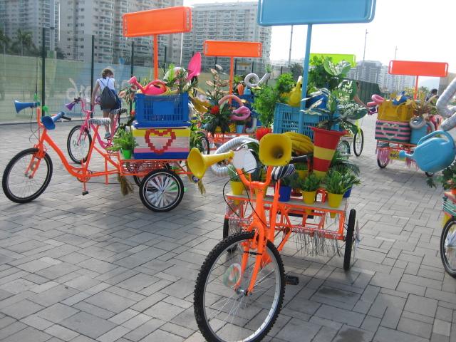 開会式の自転車