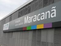 マラカナンスタジアムの駅表示