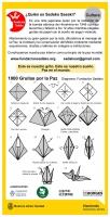 折り鶴の説明(スペイン語)