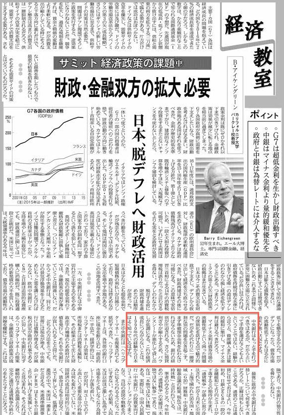 サミット経済政策の課題(中)