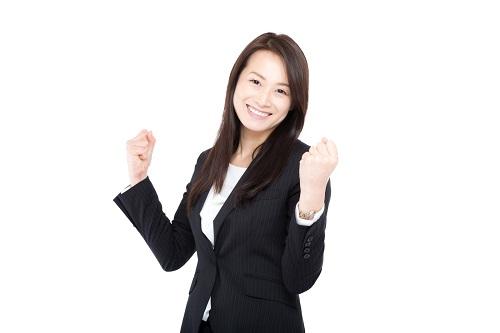 CRECO裏技でガッチリ商品獲得して喜ぶ女性