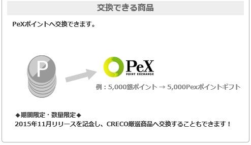 CRECO銀ポイントの交換について