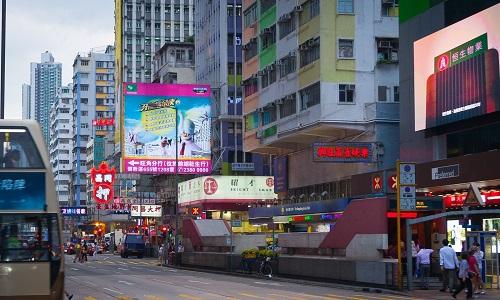 キャセイパシフィック航空の拠点である香港の街並み