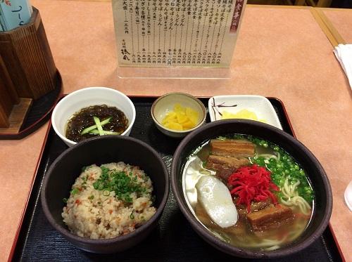 琉風の沖縄そば定食