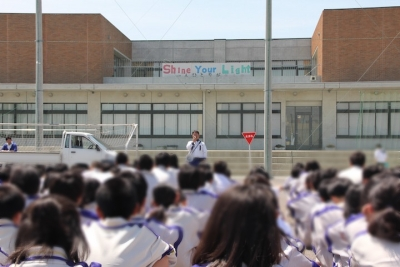 交通安全講習会/神戸中学校