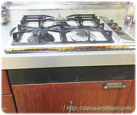 ガスの安全点検、断捨離後のキッチンであわてなくてすみました