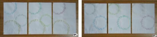 紙バッグセット 水草リースセット表裏 サイン