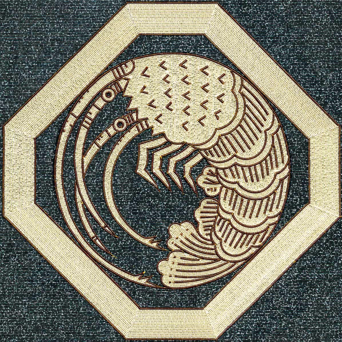 折敷に海老の丸