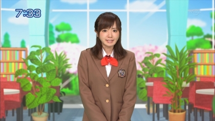 160422合格モーニング 紺野あさ美 (2)