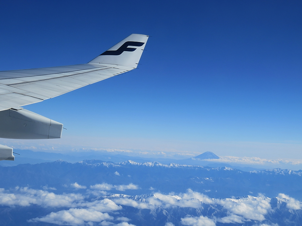Nagoya Helsinki Finnair Mt.Fuji 名古屋 ヘルシンキ 富士山 フィンエアー