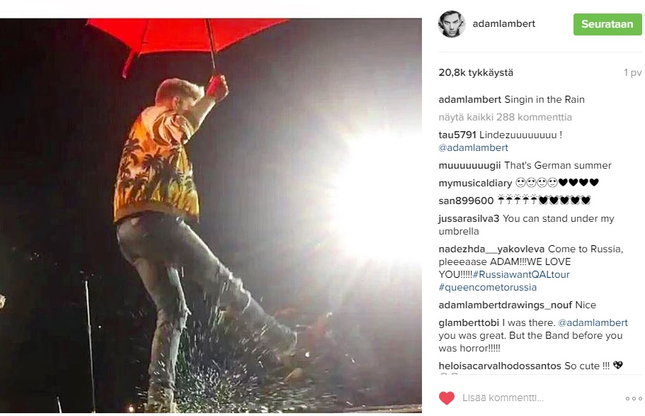 QAL singing in the rain