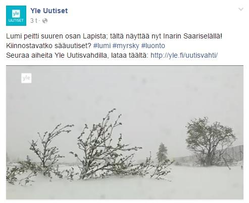 ラップランド 6月 雪 フィンランド
