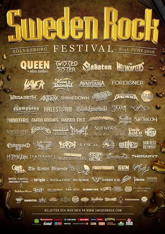 Sweden rock Festival 2016 QAL