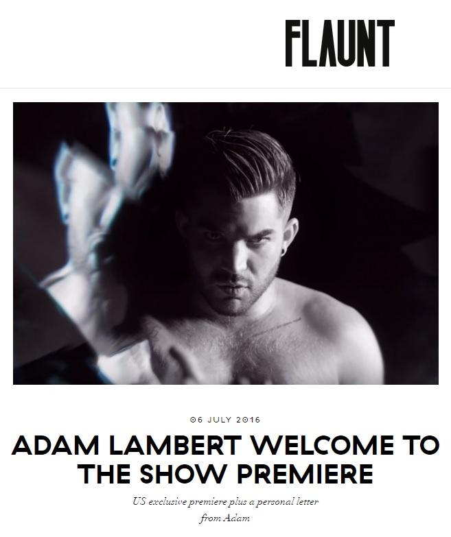 Adam Lambert WTTS Letter