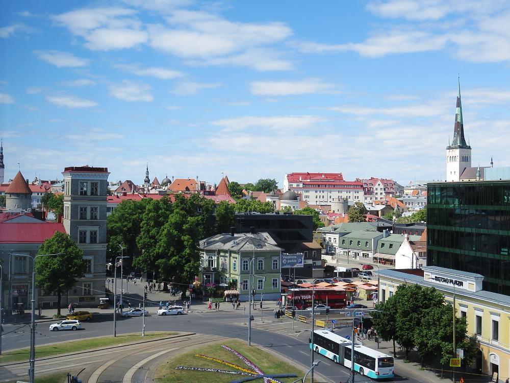 Estonia Tallinn Sokos Viru Hotel エストニア タリン ホテル 窓からの眺め