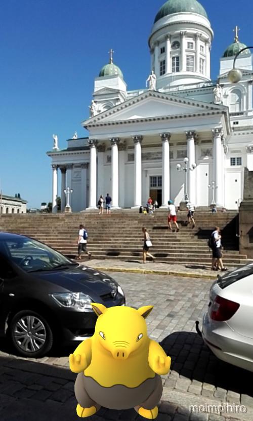 Pokemon Go ポケモンGo ヘルシンキ 大聖堂 フィンランド