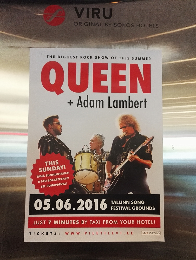 Estonia Tallinn Sokos Viru Hotel Queen Adam Lambert