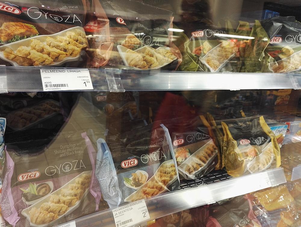 Estonia Tallinn スーパー 餃子 冷凍