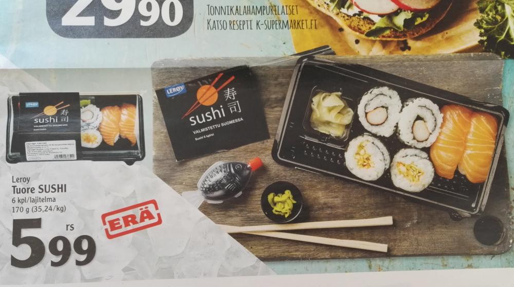 フィンランド スーパー 広告 寿司