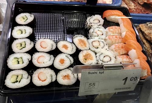 フィンランド スーパー 寿司