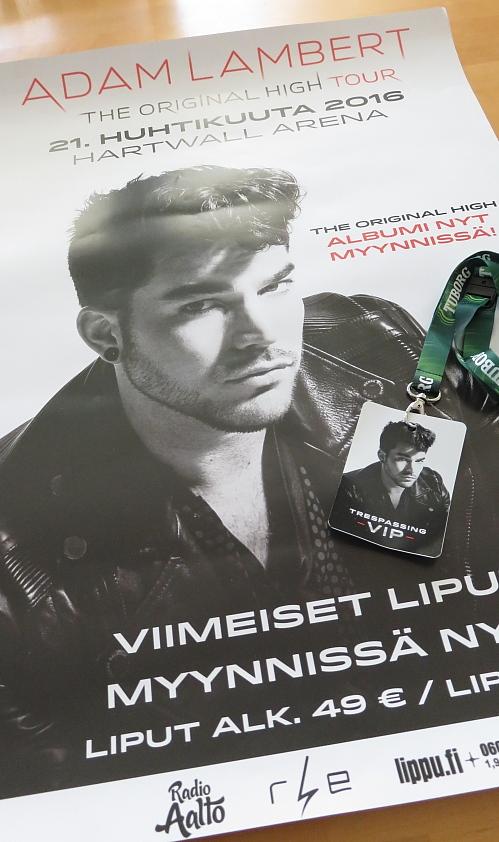 Adam Lambert Trespassing VIP Tohtour Helsinki 21.04.2016
