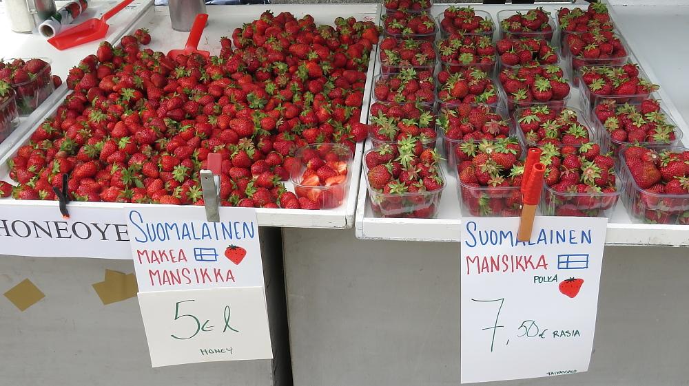 Juhannus フィンランド 夏至祭マーケット いちご