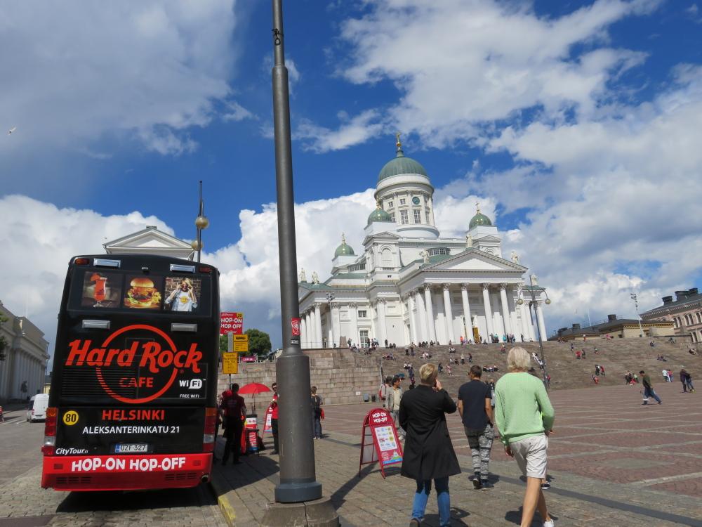 Helsinki ヘルシンキ ヘルシンキ大聖堂 観光バス ハードロックカフェ