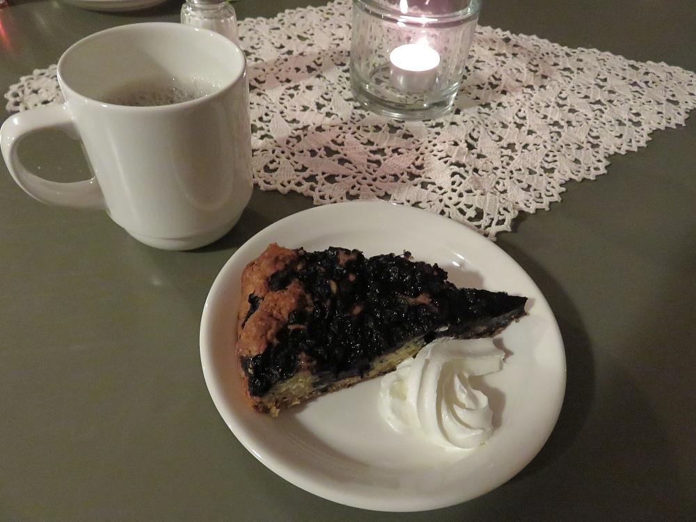 Café Krypta Helsinki フィンランド ヘルシンキ大聖堂 地下 カフェ ブルーベリーケーキ