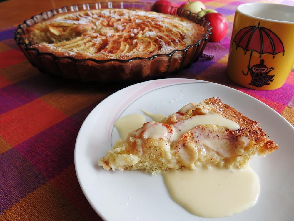 フィンランド リンゴケーキ Omenapiirakka